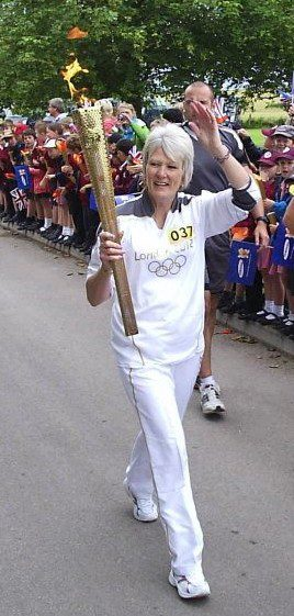 Mandy with the torch
